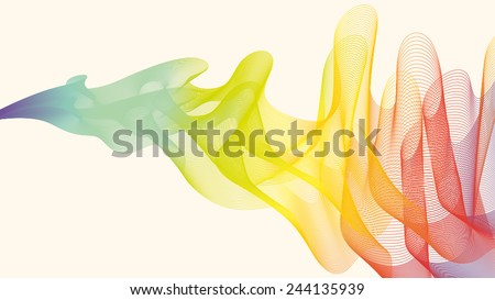Abstract colourful line/ sound/wave background