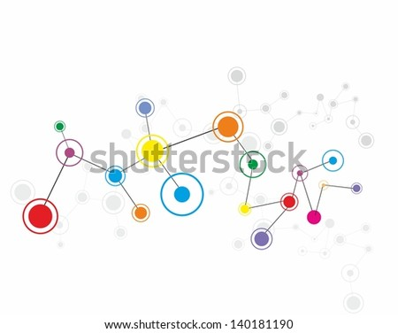 Abstract communication background.