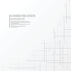 Abstract communication connection lines on white background.