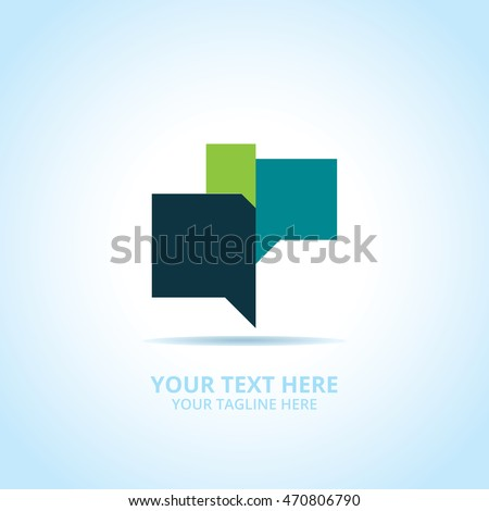 Abstract Communication logo, design concept, emblem, logotype element for template.