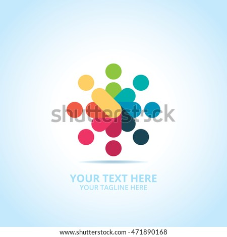 Abstract Community logo, design concept, emblem, icon, logotype element for template.