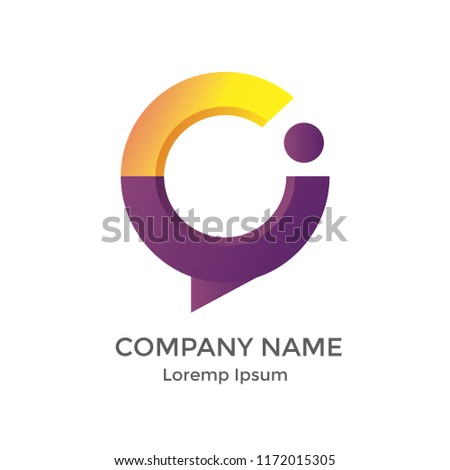 abstract company logo letter c