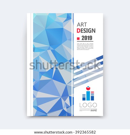Abstract composition, blue polygonal texture, triangle part construction, line plexus, a4 brochure title sheet, creative figure icon, crystal facets, sapphire diamond surface, banner form, flyer font