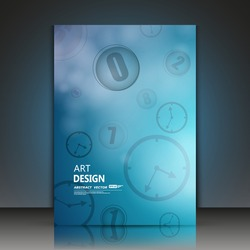 Abstract composition, digital technology, blue arithmetic galaxy, geometric shape print, round clock, watches arrow, light flying circle time, mathematics quantity icon, cosmic math, EPS10 vector