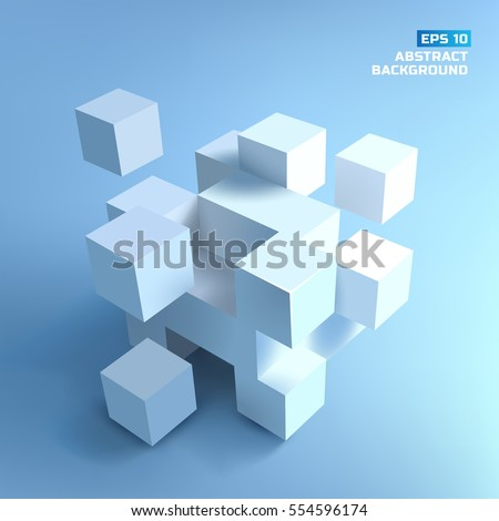 abstract composition from white