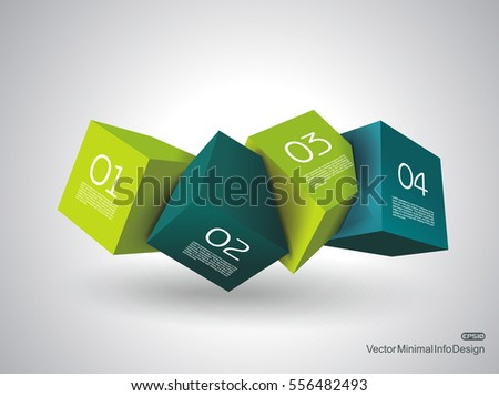 abstract composition of 3d