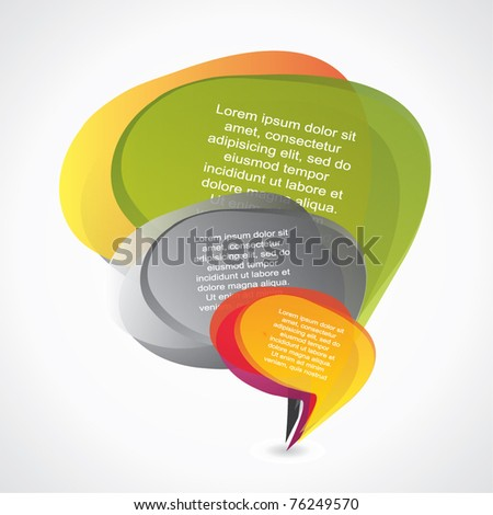 Abstract composition of speech bubbles