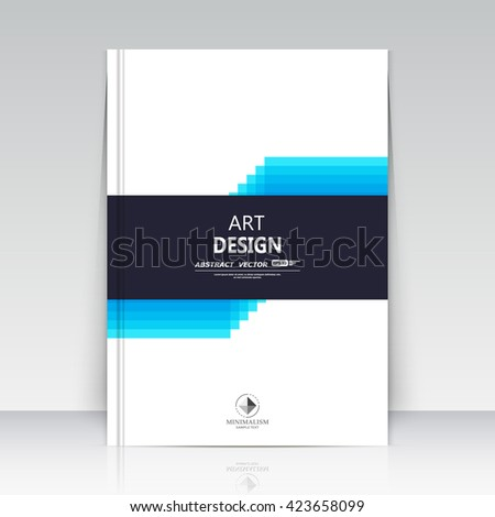 Abstract composition. Quadrate text frame surface. A4 brochure cover. White title sheet. Creative logo figure. Banner form font texture. Blue line icon label. Flyer fiber. EPS10 backdrop. Vector art