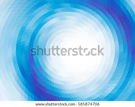 abstract composition   round on