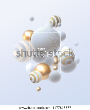 abstract composition with 3d