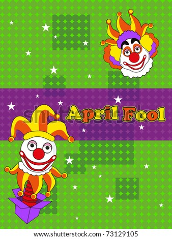 abstract concept background for fools day, vector illustration