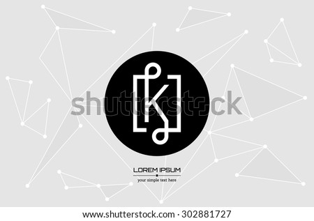 Abstract Concept Creative Vector Letter K Colorful App Logo Icon Element Isolated On Background