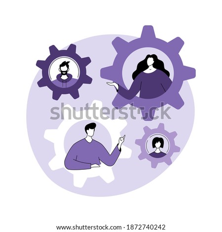 Abstract concept of social role. Social norms, gender stereotypes, social norms, role exchange is an abstract metaphor. Vector illustration in flat modern style. Photo stock ©