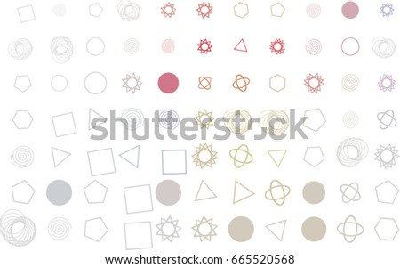 Abstract conceptual mixed pattern. Good for web page, graphic design, catalog, texture or background. Style of mosaic or tile. Vector illustration graphic.