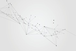 Abstract connecting dots and lines, Polygonal background, technology design, vector illustrator