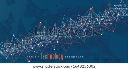 Abstract connecting dots. and Polygonal background, technology connection design, vector illustrator