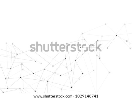 Abstract connection background with lines and dots