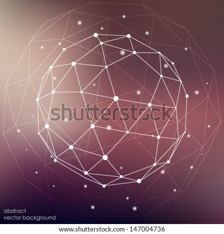 abstract connection points and lines on a colored background