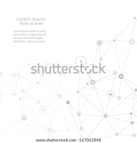 Abstract connection structure. Vector science background.