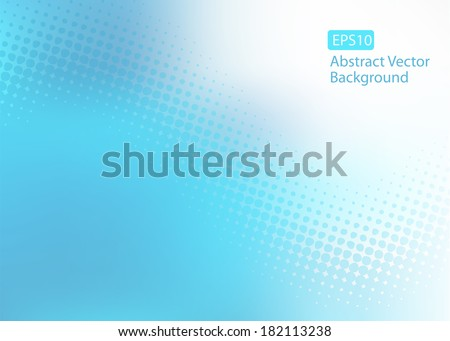 Abstract cool soft blue EPS10 dot swirl medical or business background with plenty of copy space.