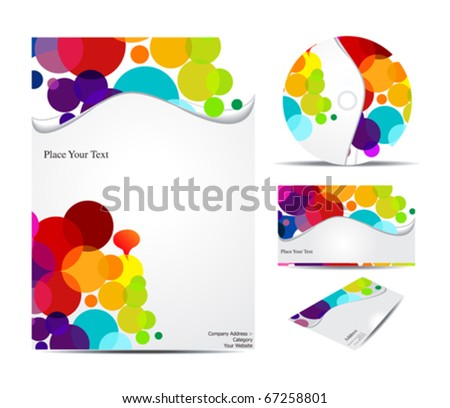 abstract corporate identity  vector illustration