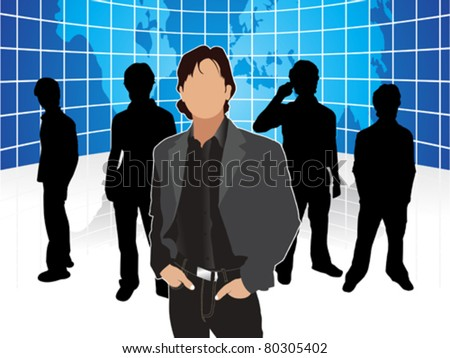 abstract corporate people template  vector illustration - stock vector