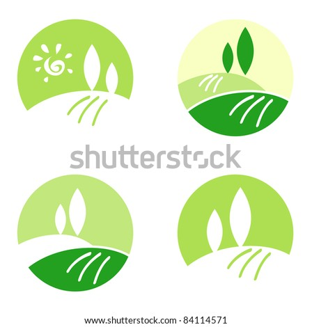 Abstract Country / Rolling Hills design icons & elements concept Vector design collection icons: Landscape, Nature and Hills.