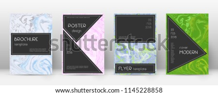 Abstract cover. Amazing design template. Suminagashi marble black poster. Amazing trendy abstract cover. Business vector illustration.