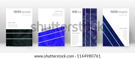 Abstract cover. Amazing design template. Suminagashi marble geometric poster. Amazing trendy abstract cover. Business vector illustration.
