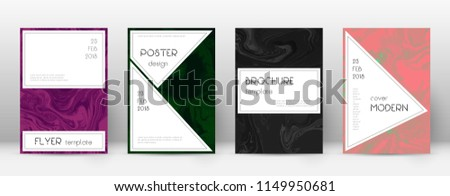 Abstract cover. Amazing design template. Suminagashi marble stylish poster. Amazing trendy abstract cover. Business vector illustration.