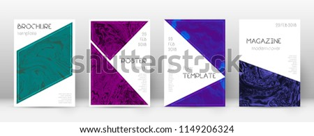 Abstract cover. Amazing design template. Suminagashi marble triangle poster. Amazing trendy abstract cover. Business vector illustration.