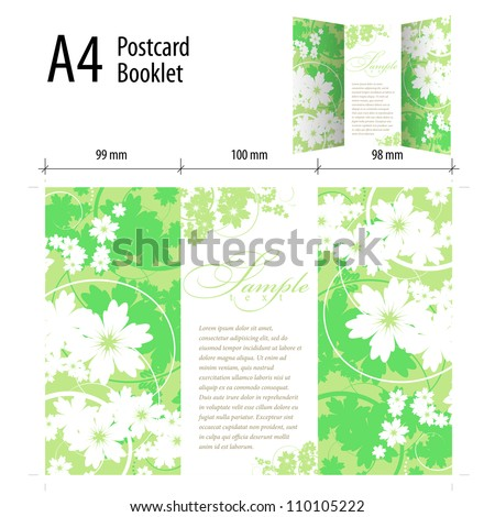 Abstract Cover Design Posrcard - stock vector