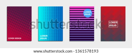 Abstract cover design, set of geometric backgrounds #1361578193