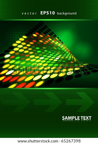 Abstract cover design with bright dotted surface. Vector