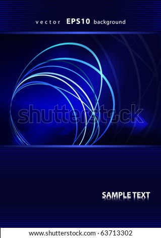 Abstract cover design with circles and arrows. Vector - stock vector