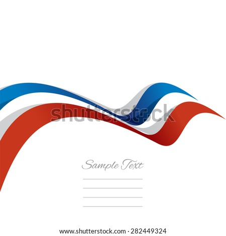 Abstract cover French ribbon white background vector