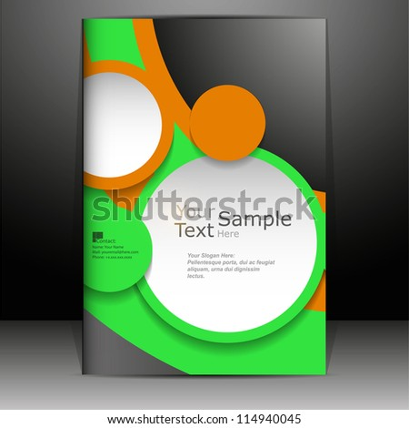 abstract cover or flyer design