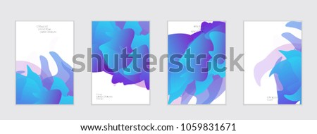 Abstract cover template with gradient design elements. Futuristic abstract modern pattern with fluid colors creating digital art. Bright colored background artistic social media web banner #1059831671