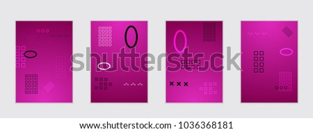 Abstract cover template with gradient design elements. Poster with geometric shapes and gradient. #1036368181