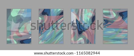Abstract cover template with watercolor design elements. Poster with geometric shapes and multicolored transparent random overlapping shapes creating vector watercolor effect. - Shutterstock ID 1165082944