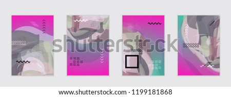 Abstract cover template with watercolor design elements. Poster with geometric shapes and multicolored transparent random overlapping shapes creating vector watercolor effect.