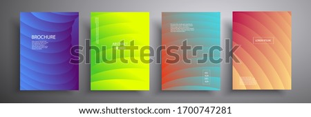 Abstract cover vector illustration. Future geometric design. Collection of templates for brochures, posters, covers, notebooks, magazines, banners, flyers and cards.