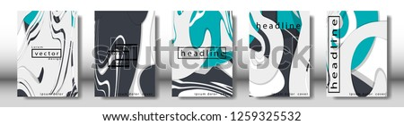 Abstract cover with liquid elements. book design concept. Futuristic business layout. Digital poster template. Design Vector - eps10 #1259325532