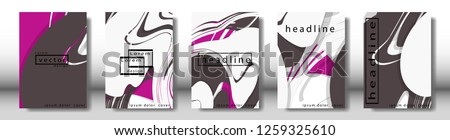 Abstract cover with liquid elements. book design concept. Futuristic business layout. Digital poster template. Design Vector - eps10 #1259325610