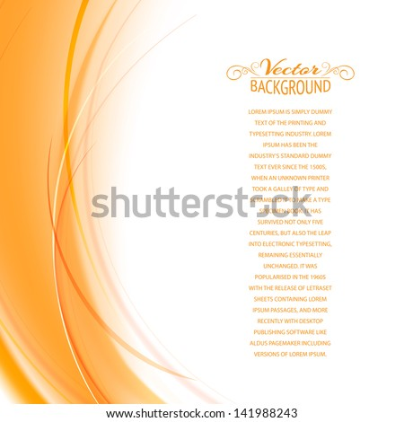 Abstract cover with smooth lines. Vector background, contains transparencies. - stock vector