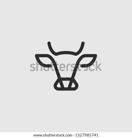 abstract cow or bull logo