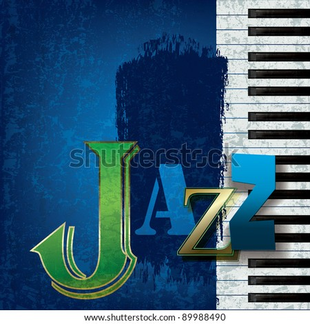 abstract cracked jazz music