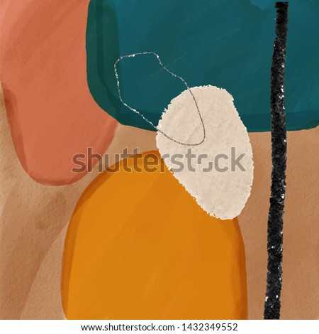 Abstract creative background. Colorful shapes and textures. Freehand contemporary composition. Impressionism modern art for poster, banner, card, flyers.