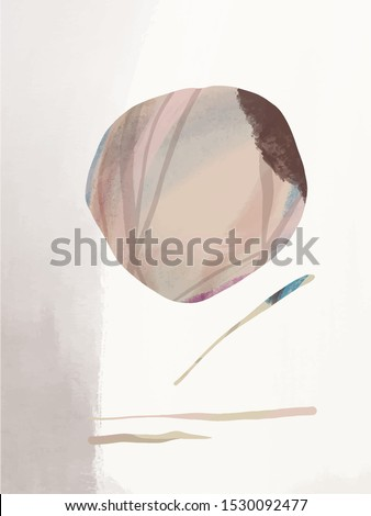 Abstract creative background. Colorful shapes and textures. Freehand contemporary composition. Impressionism modern art for poster, banner, card, flyers. Hand drawn vector illustration