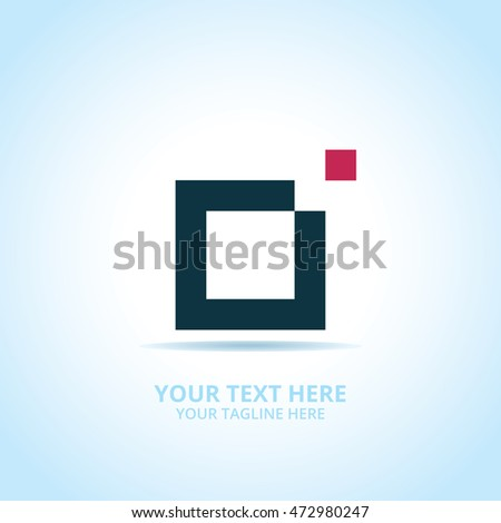 Abstract Creative Box logo, design concept, emblem, icon, flat logotype element for template.